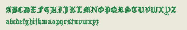 刺繍フォントサンプル